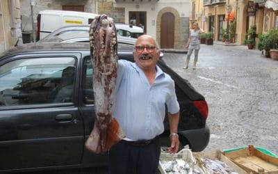 Cefalú Fischhändler auf der Straße (1)