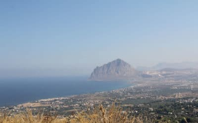 Erice Blick auf den Cofano-Berg (2)