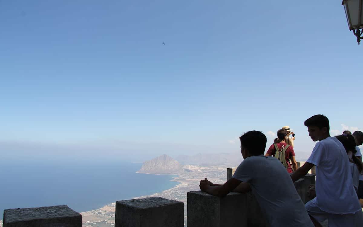 Erice-Schloß Blick auf den Cofano-Berg (3)