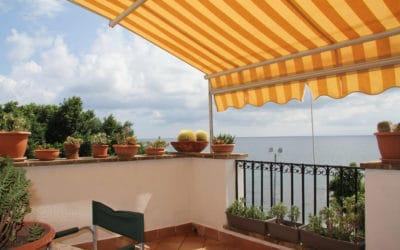 Ferienhaus Sant' Elia, Dachterrasse mit Meerblick(1)