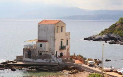 Ferienhaus Sant' Elia, Meerblick vom Wohnzimmer (2)