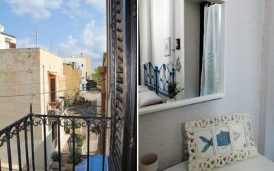 Ferienhaus Sant' Elia, Schlafzimmer mit Balkon (3)