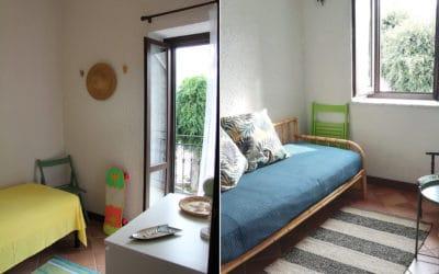 Ferienhaus Sant' Elia, kleines Schlafzimmer mit Balkon (1)