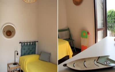 Ferienhaus Sant' Elia, kleines Schlafzimmer mit Balkon (3)