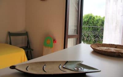 Ferienhaus Sant' Elia, kleines Schlafzimmer mit Balkon (4)