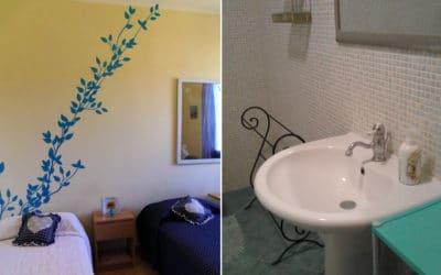 Ferienhaus Selinunte Schlafzimmer und Badezimmer
