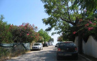 Privatstrasse zum Strand