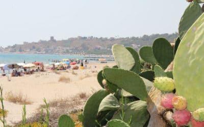 Sandstrand Portopalo im Sommer (2)