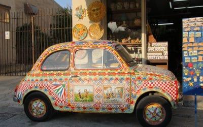 Selinunte, sizilianisches Fiat 500 (2)