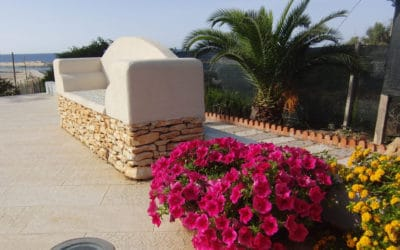 Villa Portopalo Garten mit Meerblick (3)