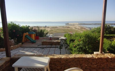 Villa Portopalo Sandkasten und Meerblick