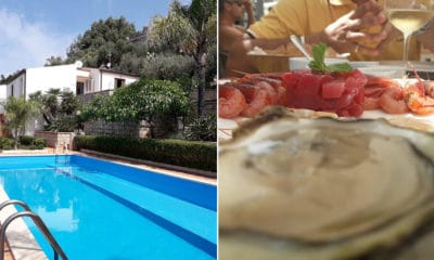 Villa Terrasini Pool und Fischrestaurant