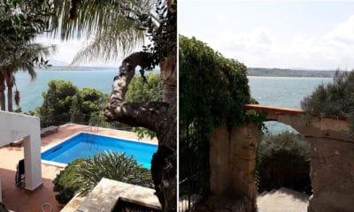 Villa Terrasini Pool und Zugang zur Badebucht (1)