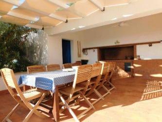 Villa Terrasini Terrasse mit Meerblick (2)