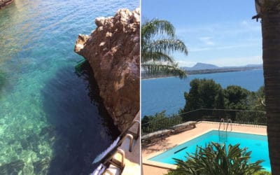 Villa Terrasini private Badebucht und Pool