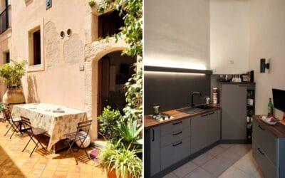 Ferienwohnung Ortigia Küche und Hof (1)